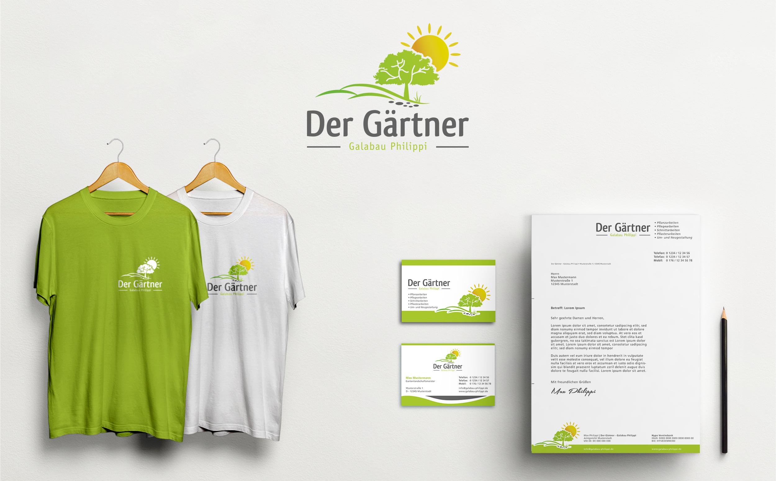 Garten Landschaftsbaufirma Sucht Logo Und Visite Logo