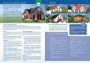 Kleine Werbebroschüre für Bauunternehmen (Deckblatt plus 1. und 2. Seite)