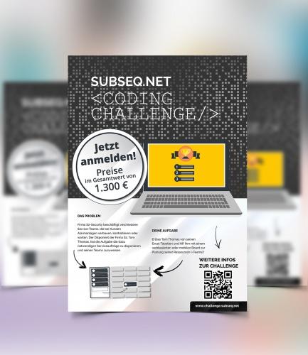 Plakat-Design für Coding Challenge