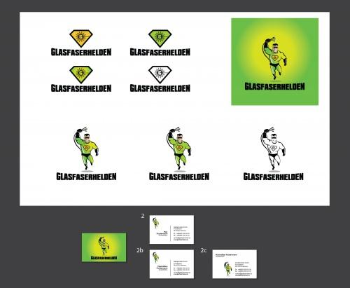 Glasfaserhelden (Logo / Super Hero Comic Character/Figur & CD Package)