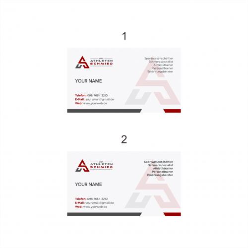 Logo Visitenkarte Für Personaltrainer Logo Business