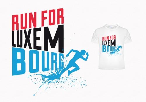 Running shirt design thema: Luxemburg