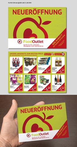 Gutschein-Design für Food Outlet