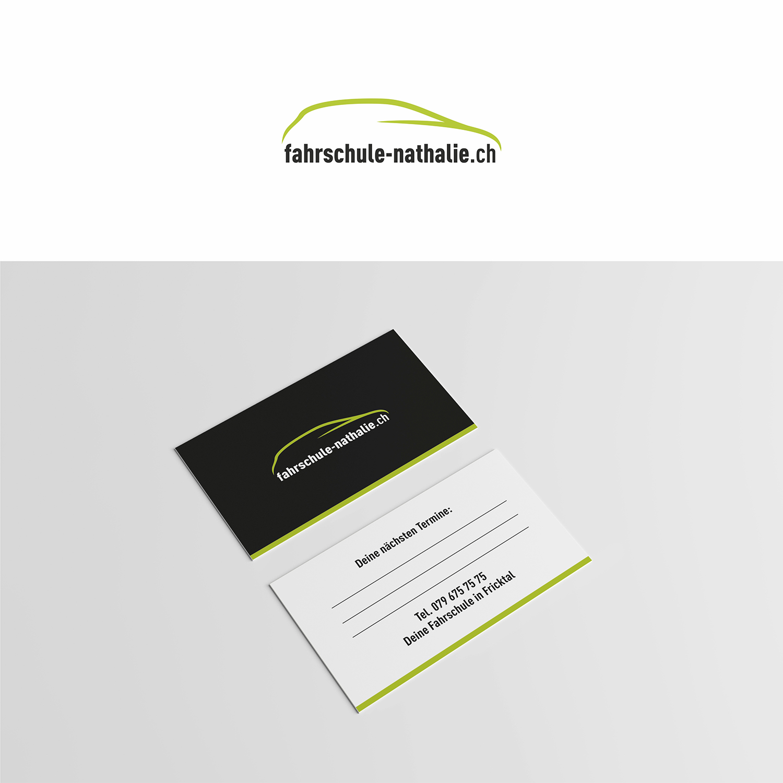 Logo Visitenkarten Design Für Fahrlehrerin Logo