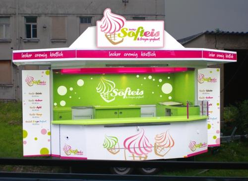 Gestaltung eines Verkaufsstandes für Softeis & Frozen Joghurt