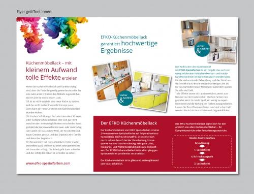 Küchenmöbellack flyer design für küchenmöbellack flyer design briefing