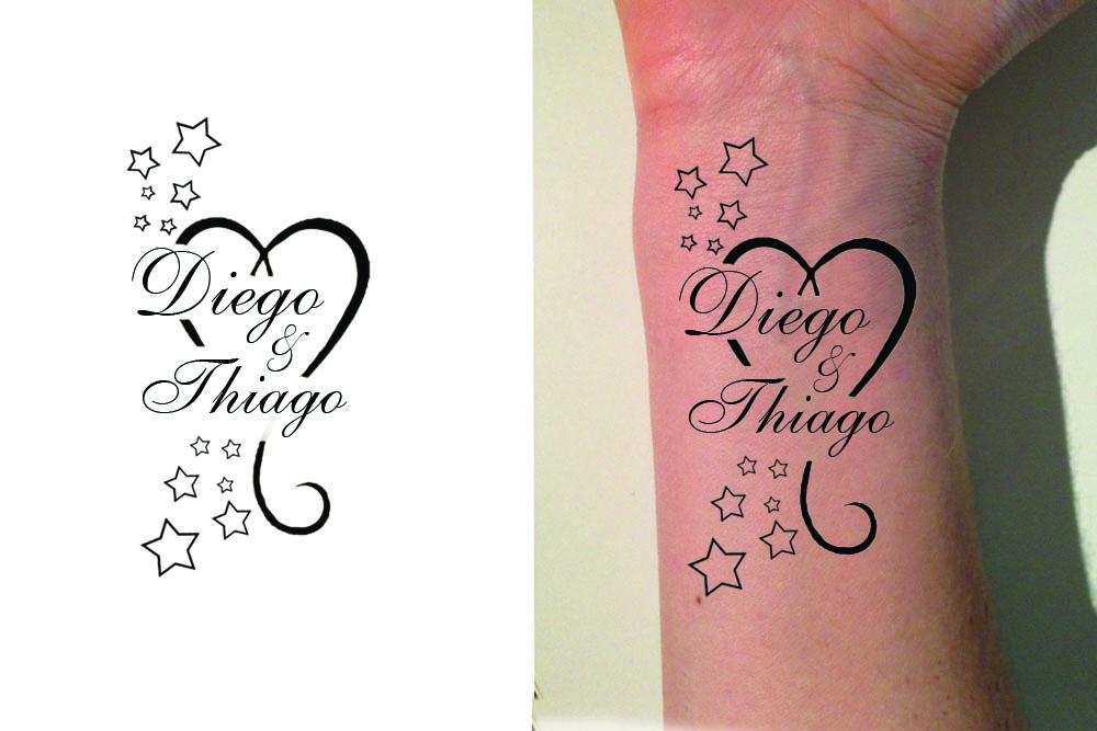 Tattoo Handgelenk Kindernamen