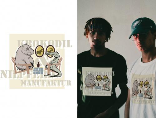 Old Buddies suchen ein cooles T-Shirt Design mit Nilpferd und Krokodil