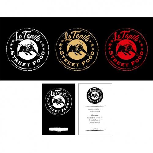 Logo & Visitenkarte für mobile Tapas- und Burger-Bar