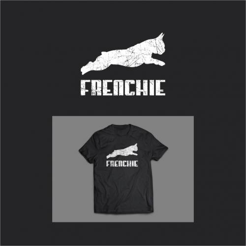 T-Shirt Design mit Bulldogge für Hundeliebhaber