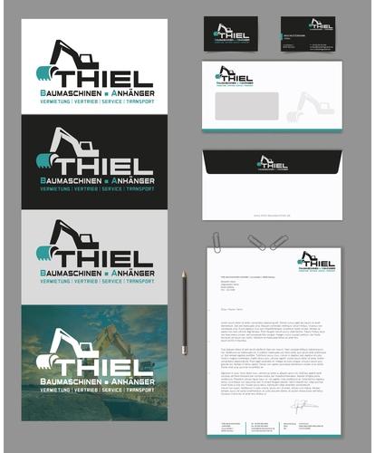 Logo-Design für Baumaschinenvermietung