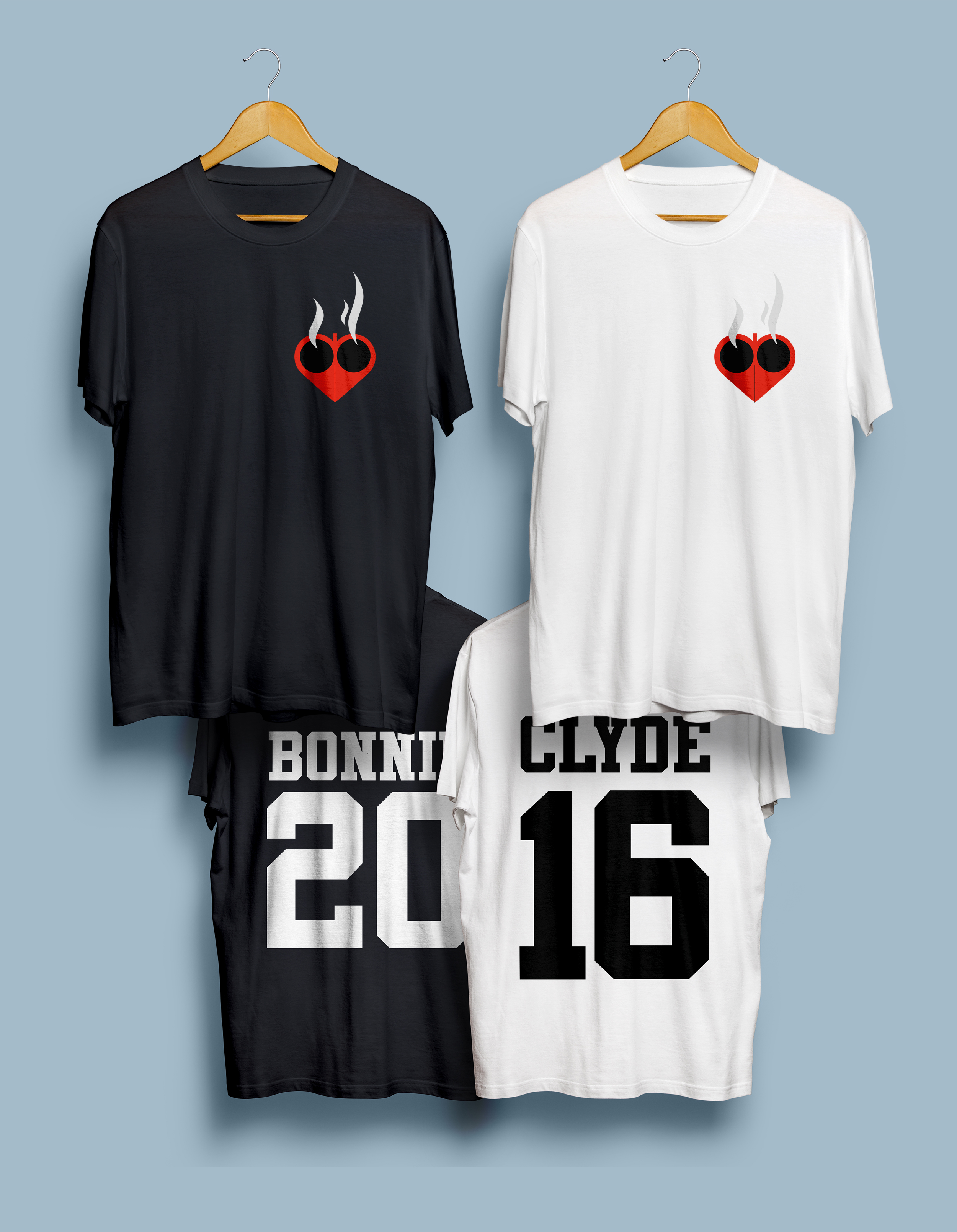 Bonnie And Clyde T Shirt Design