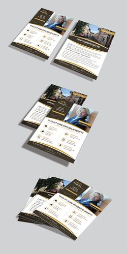 Flyer-Design für Immobilienfirma
