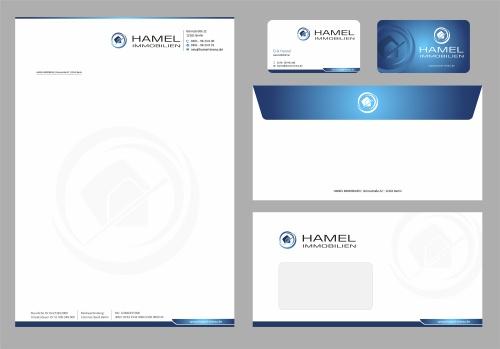 Geschäftsunterlagen mit vorhandenem Logo
