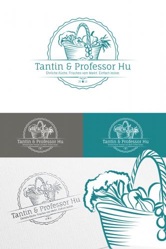 Logo-Design für den Foodblog Tantin & Professor Hu
