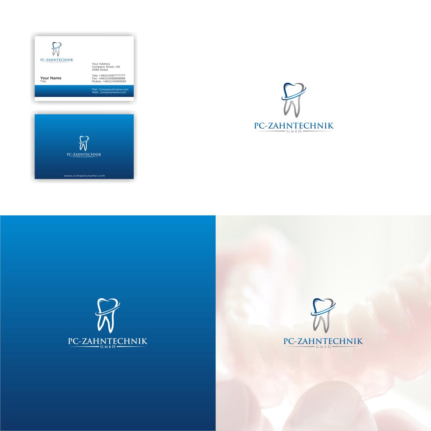 Logo Visitenkarte Für Zahntechniker Logo Visitenkarte