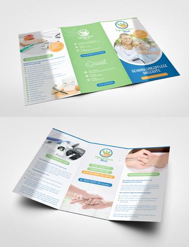Flyer-Design für ambulanten Pflegedienst
