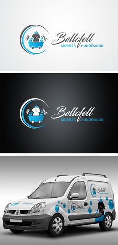 Bellofell Logo-Design für Hundefriseurin
