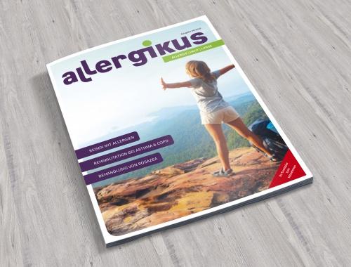 Coverneugestaltung einer Zeitschrift für Betroffene mit Allergien