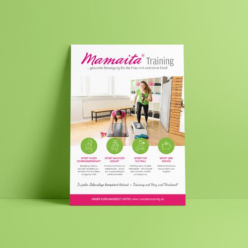 Plakat-Design für Sportkurse & Fitness für Frauen