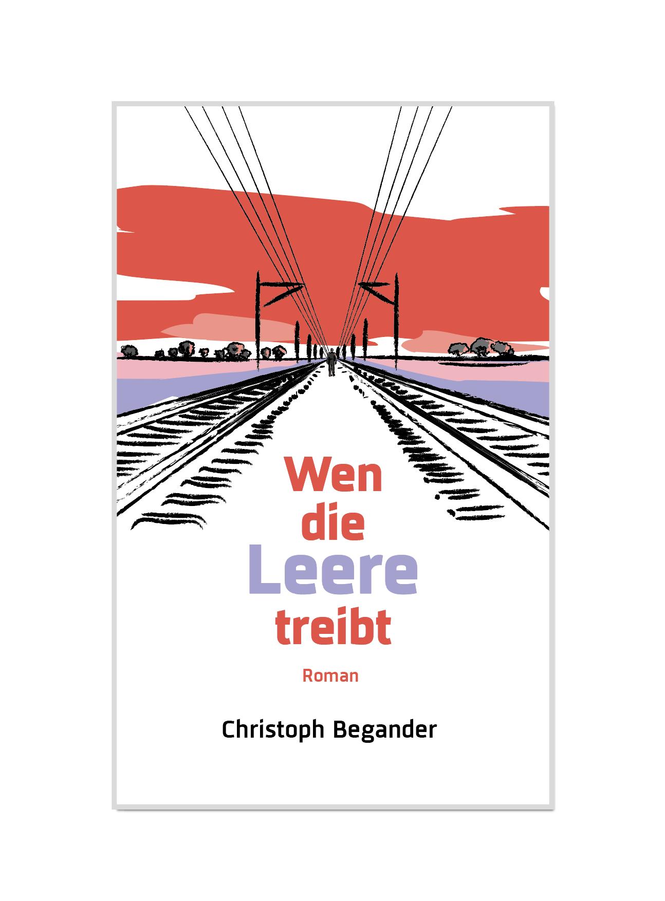 E-Book-Cover für meinen Roman Wen die Leere treibt