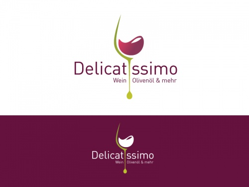 Logo voor het laden van de wijn en olie en balsamico verkocht (Neuerffnung)