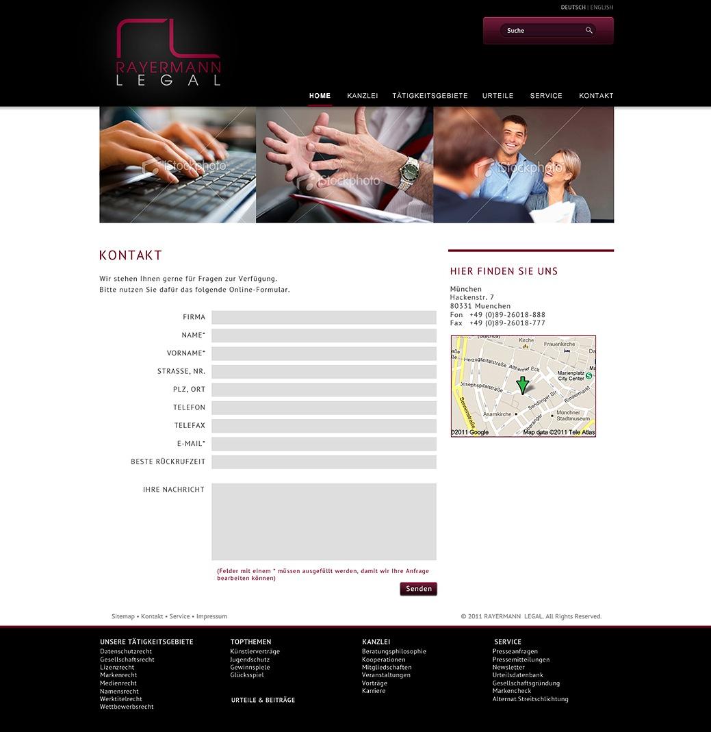 Kanzlei-Website Re-Design