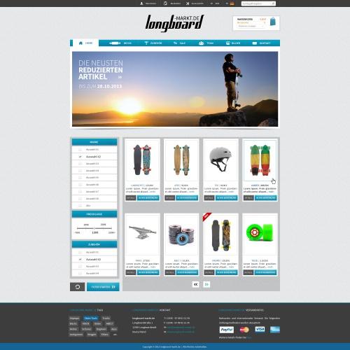 Layout für Longboardshop