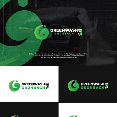 Logo-Design für biologische Autowaschanlage