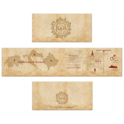 Einladungskarten-Design für Hochzeit