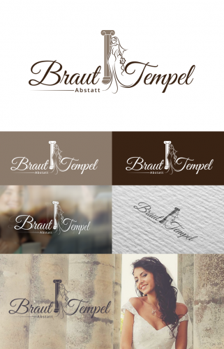 Logo-Design für Braut Tempel