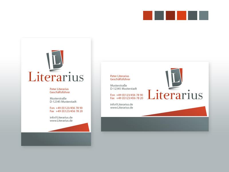 Logo Mit Briefpapier Und Visitenkarte Visitenkarten Design