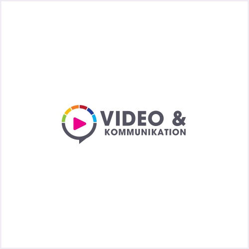 logo design f r video kommunikations firma logo. Black Bedroom Furniture Sets. Home Design Ideas