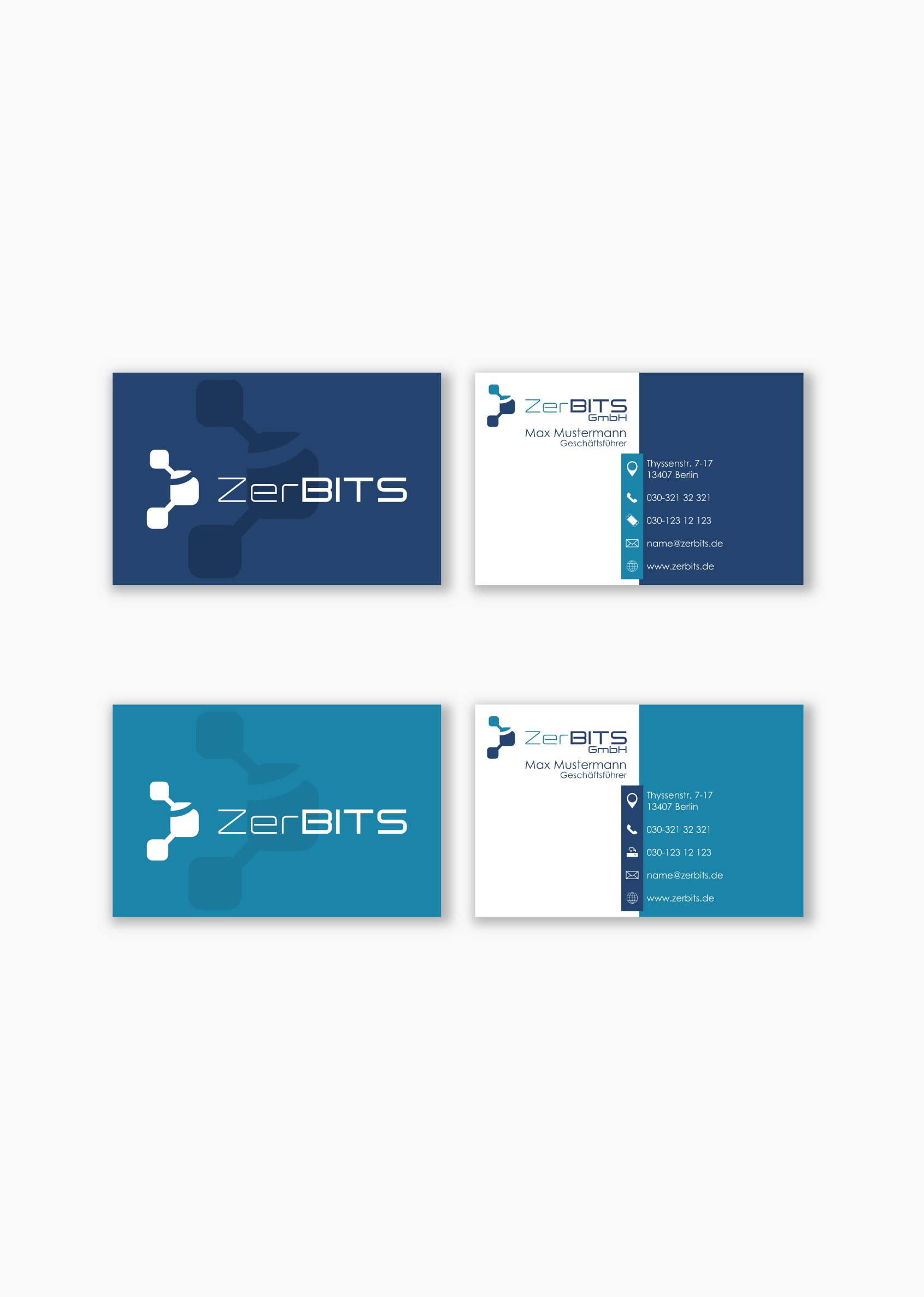 Visitenkarten Design Für It Service Business Card Design