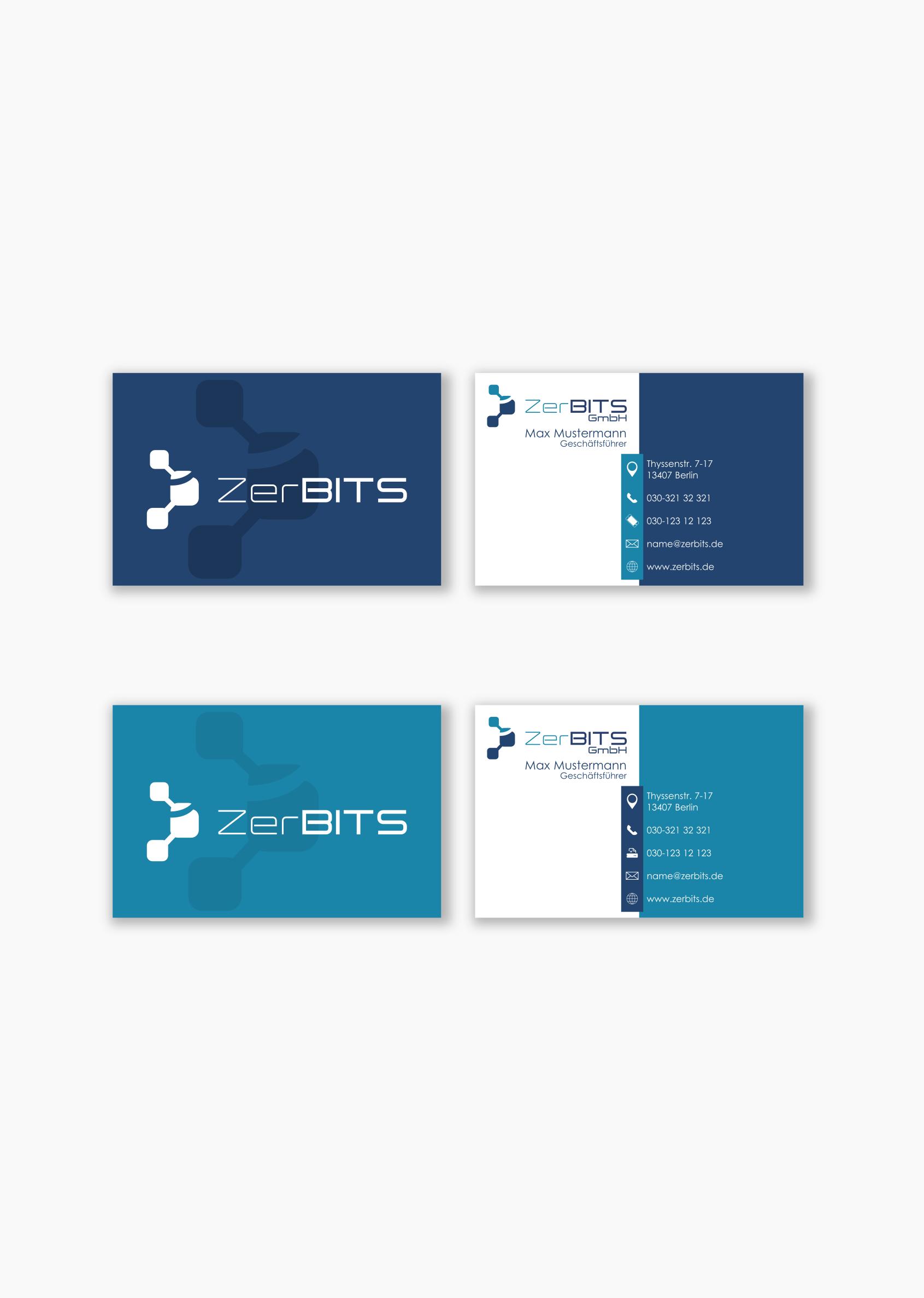 Visitenkarten Design Für It Service Visitenkarten Design