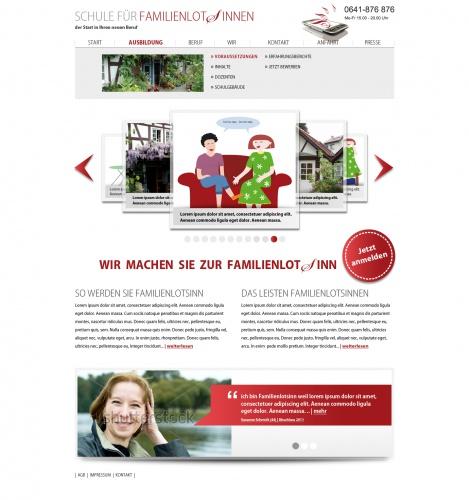 Webdesign Schule für FamilienlotSinnen