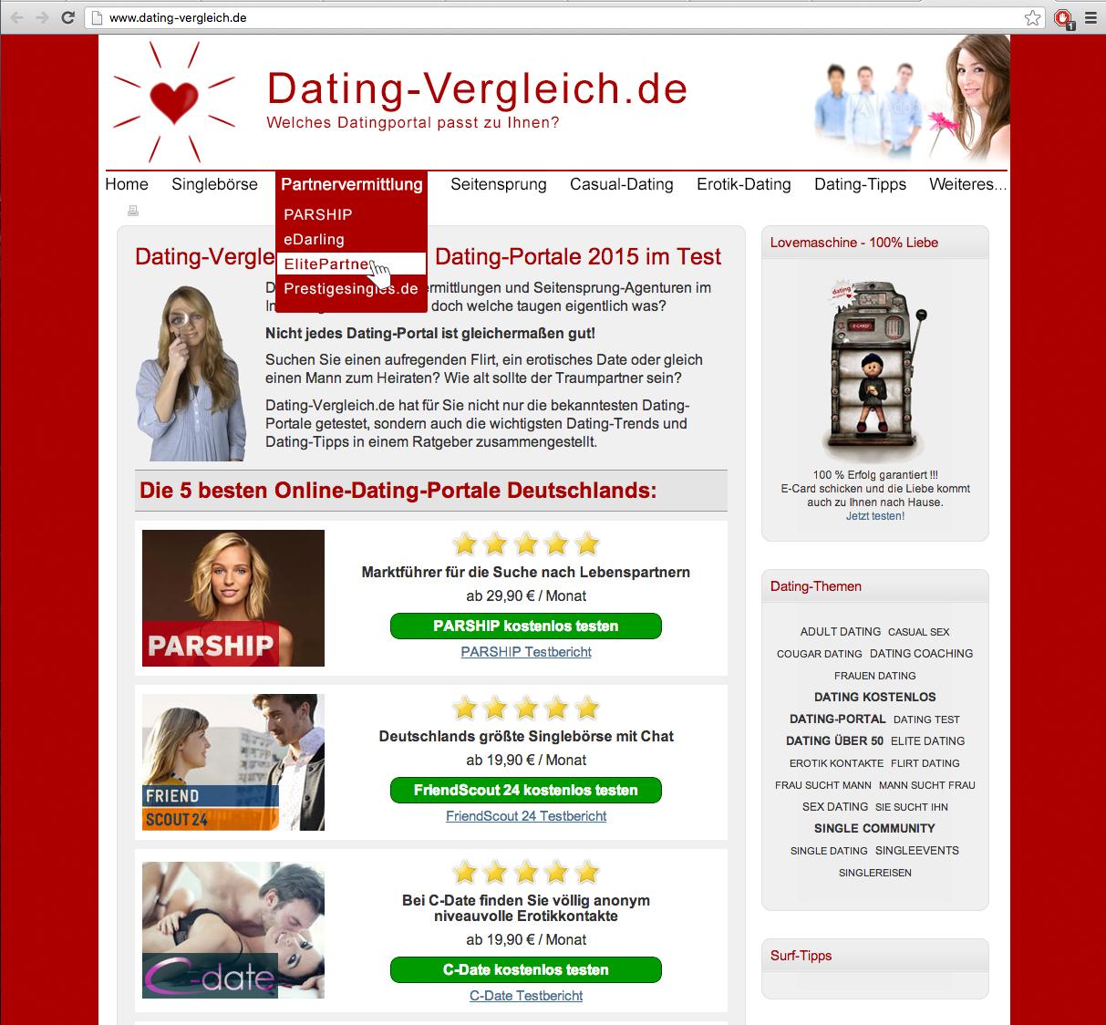 Dating Portal Vergleich