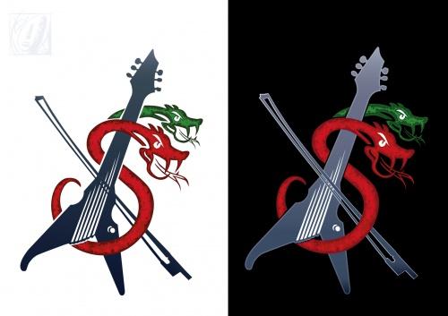 Logo-Design für Rock-E-Geigen Duo