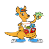 Masquotte: peint nous un kangourou