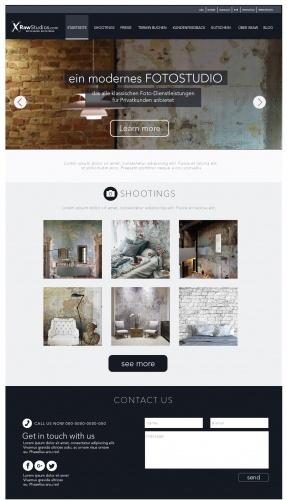 Logo, CorporateDesign und Website-Entwurf der Startseite