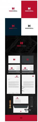 Logo & Visitenkarte für Verkauf von hochwertigen Edelstahl-Grills und Grill-Kaminen