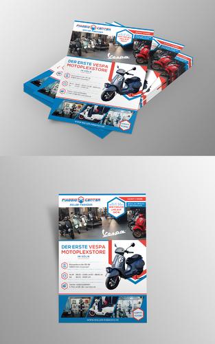 Exclusiver Flyer-Design für VESPA-Shop