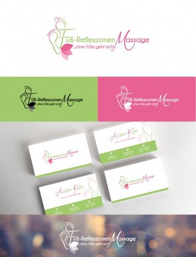 Logo Visitenkarte Für Hand Fussrefle Logo Business