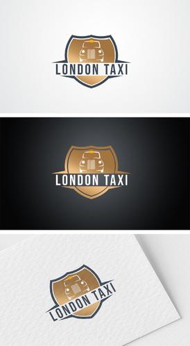 Logo-Design für Taxi und Mietwagen Service mit Original London Taxis