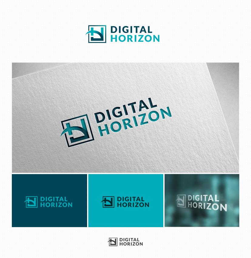 Logo Visitenkarte Für Die Digital Horizon Logo
