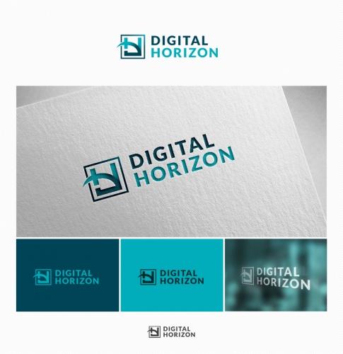 Logo & Visitenkarte für die Digital Horizon GmbH