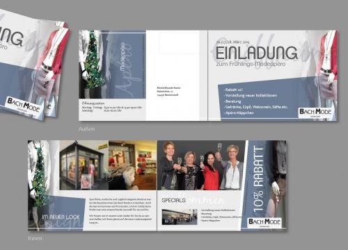 Modeboutique Eröffnungs-Flyer