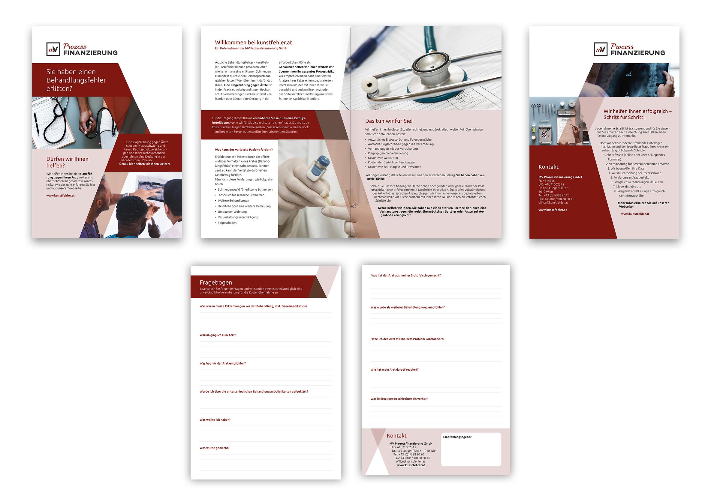 Flyer-Design für Prozessfinanzierungsfirma