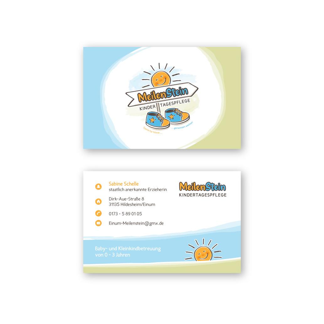 Logo Visitenkarte Für Kindertagespflege Logo