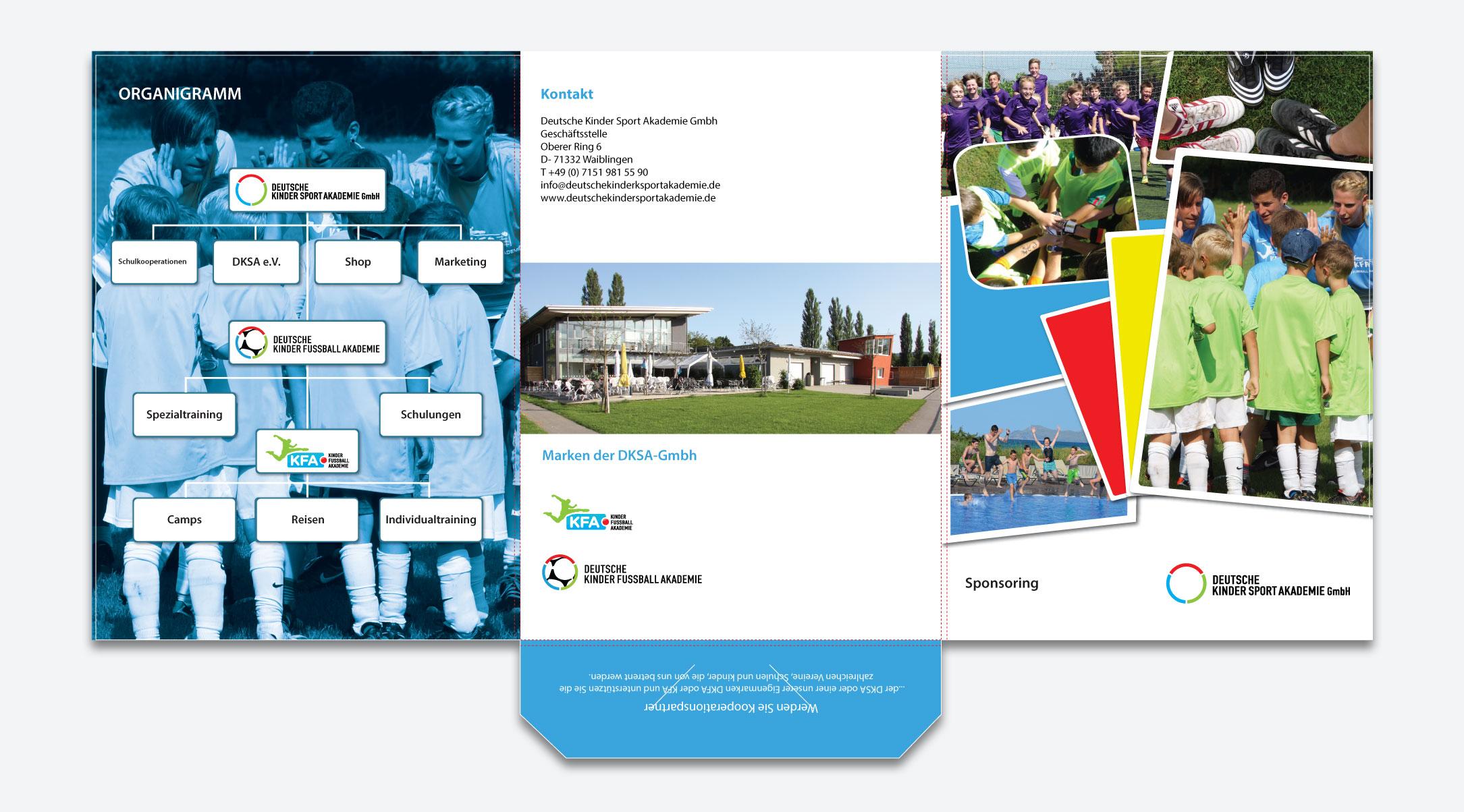 Sponsorenmappe für die Deutsche Kinder Sport Akademie